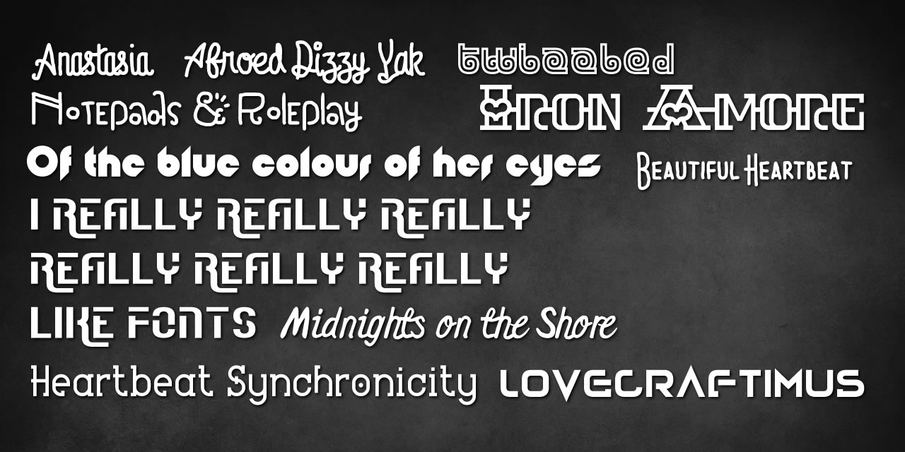 Love Fonts Preview