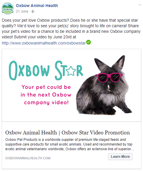 """Beautiful Heartbeat"" used by Oxbow Animal Health"