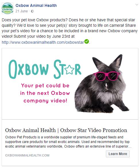 """Beautiful Heartbeat"" used by Oxbow Animal Health"