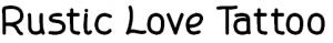 Rustic Love Tattoo